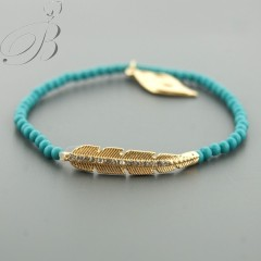 Our Feathers bracelet in Turquoise $20