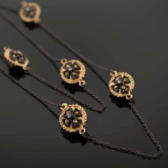 Simone~Deux Maltese cross necklace by Tresors De Luxe $42