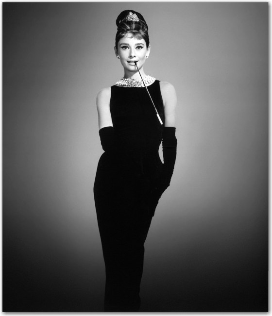 Audry Hepburn in her LBD! (little black dress)