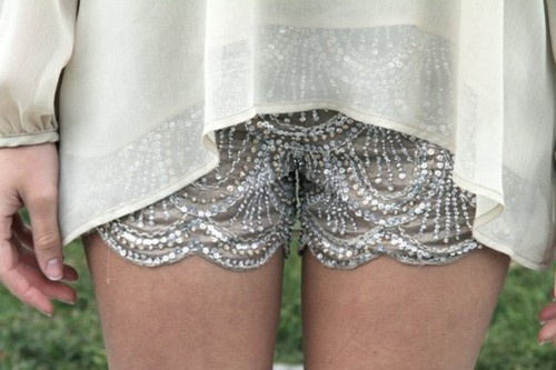 Metallics and lace!