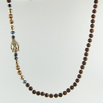 Namaste' semi-precious stone and crystal necklace $38
