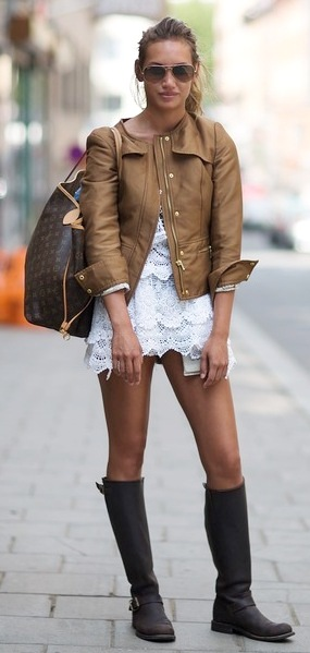 Once again, the long sleeved white blouse makes a statement that is chic and fashion forward in any city around the world!
