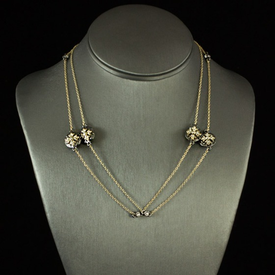 "Our Jostlin - Maltese Cross Necklace 36"" delicate chain with amazing charm accents!"