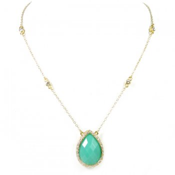 Kalee Turquoise Sparkle Necklace $28