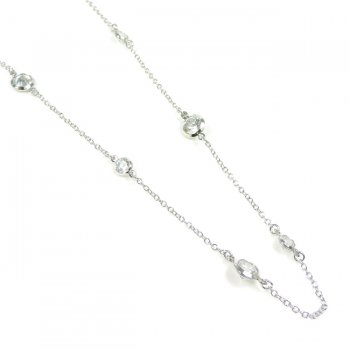 "Chantilly Lace CZ Necklace $49 ""Diamonds By The Inch"""